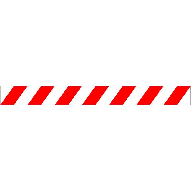 Banda Adhesiva Rojo-Blanco 1Metro X 10CM