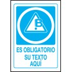 Cartel PVC Personalizado Obligación