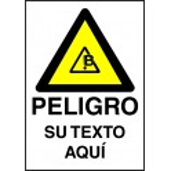 Cartel PVC Personalizado Peligro