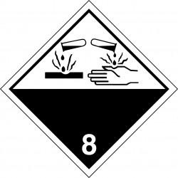 Peligro de Clase 8 - Señal Materias corrosivas
