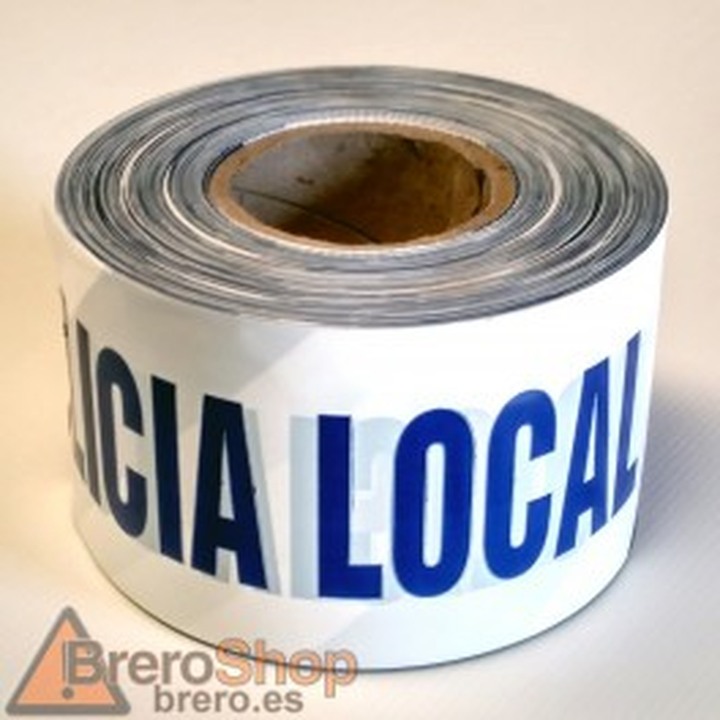 Rollo Cinta de Señalización Policía Local 250m. - 10cm
