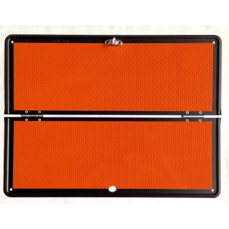 Panel ADR Mercancías Peligrosas Plegable con Raya - Naranja
