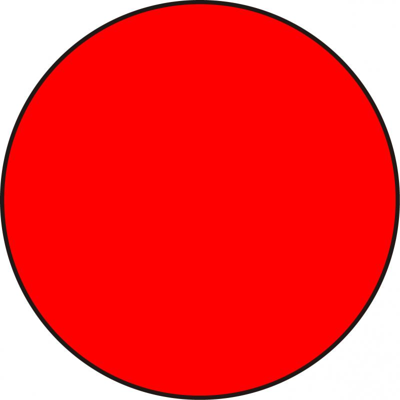 Círculo Adhesivo - Rojo, Verde o Amarillo