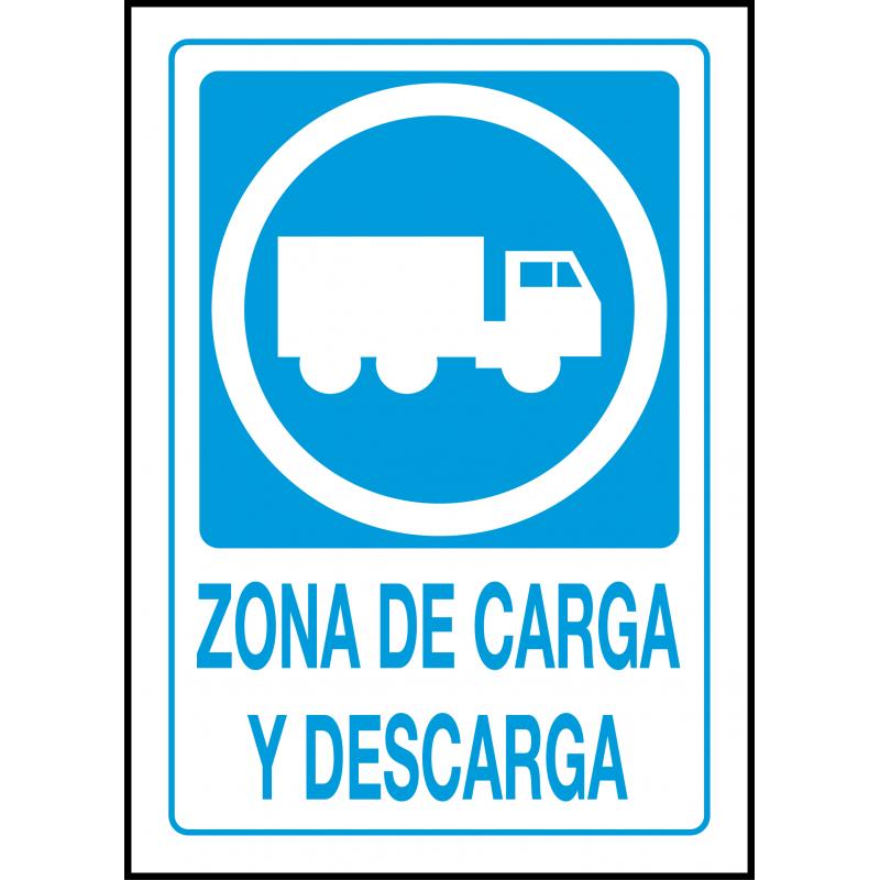 Cartel Zona de Carga y Descarga - Camiones