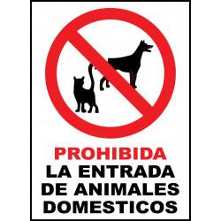 Cartel Prohibido la Entrada de Animales Domésticos