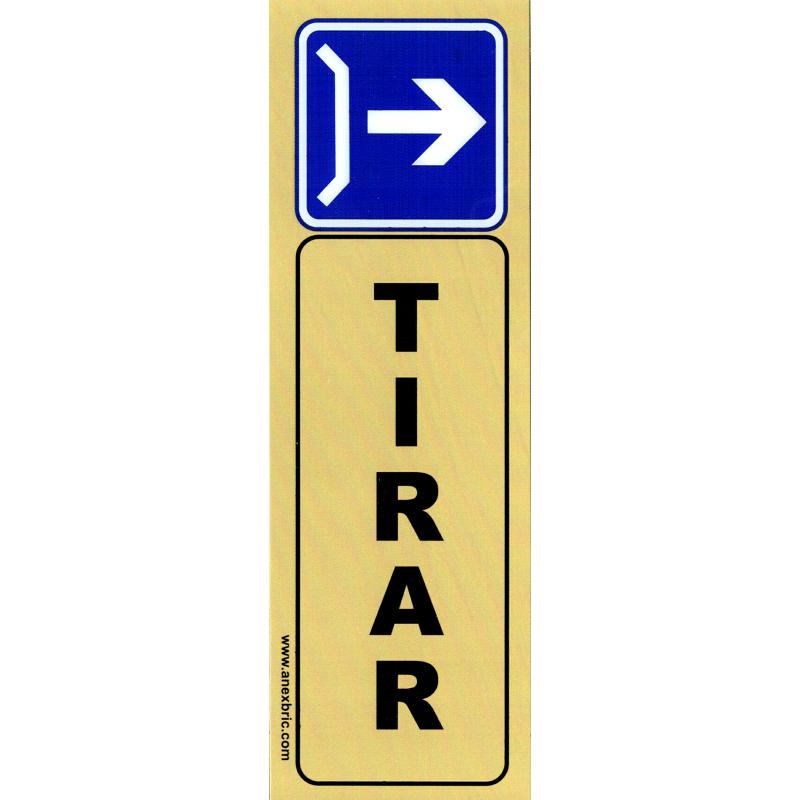 Placa Adhesiva Tirar - Vertical