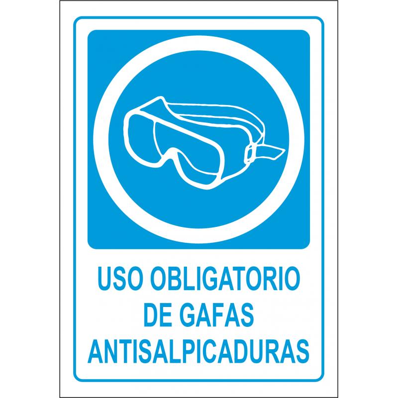Cartel Uso Obligatorio de Gafas Antisalpicaduras