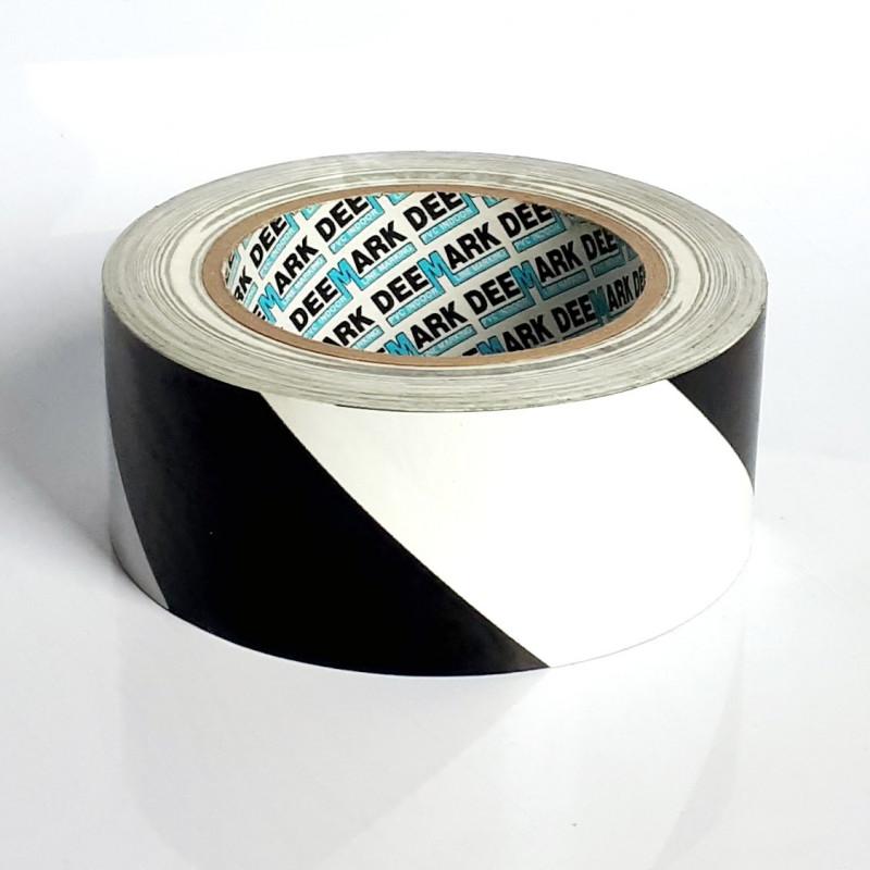 Cinta Adhesiva de PVC Blanco/Negro 33mx50mm