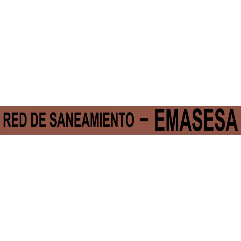 Rollo Cinta Emasesa - Red de Saneamiento - Azul 250m.