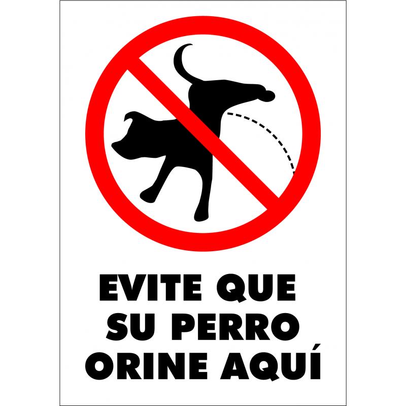 Cartel Evite que su perro orine aquí
