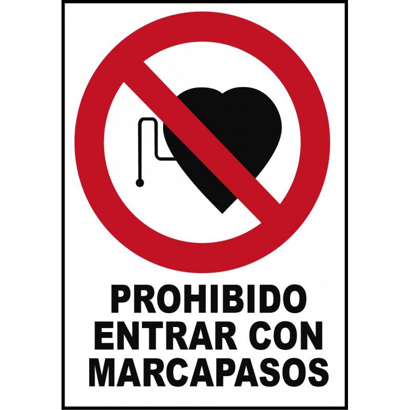 Cartel Prohibido Entrar con Marcapasos