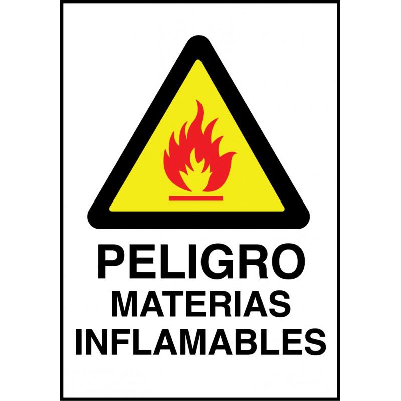 Cartel Peligro Materias Inflamables
