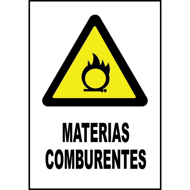 Cartel Materias Comburentes
