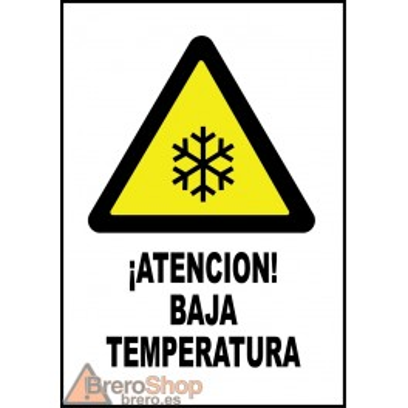 Cartel ¡Atención! Baja Temperatura