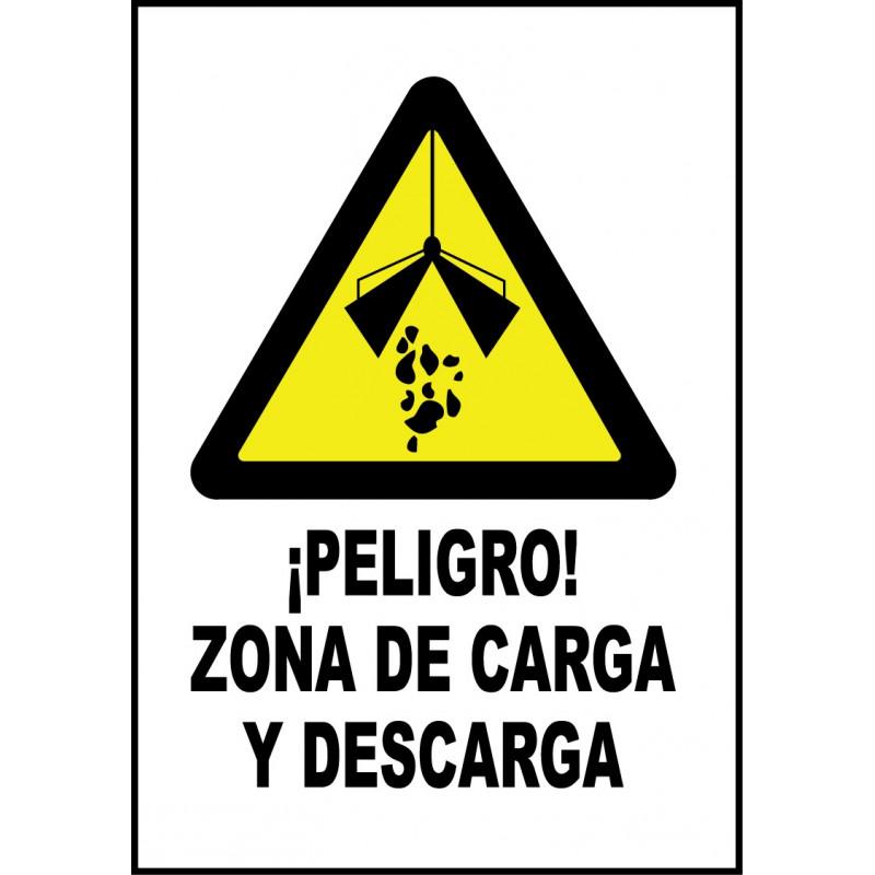 Cartel ¡Peligro! Zona de Carga y Descarga