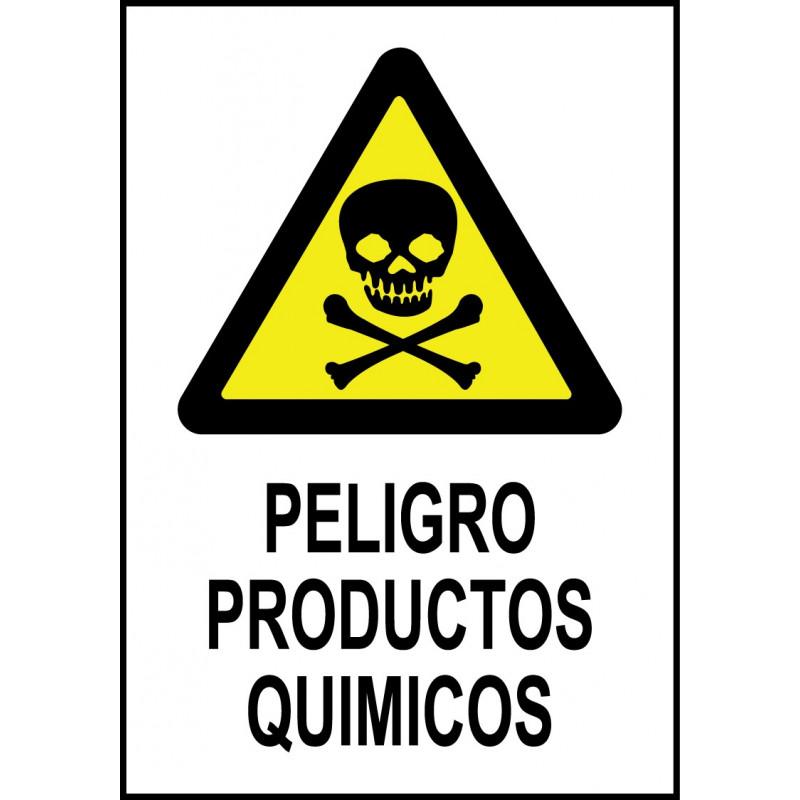 Cartel Peligro Productos Químicos