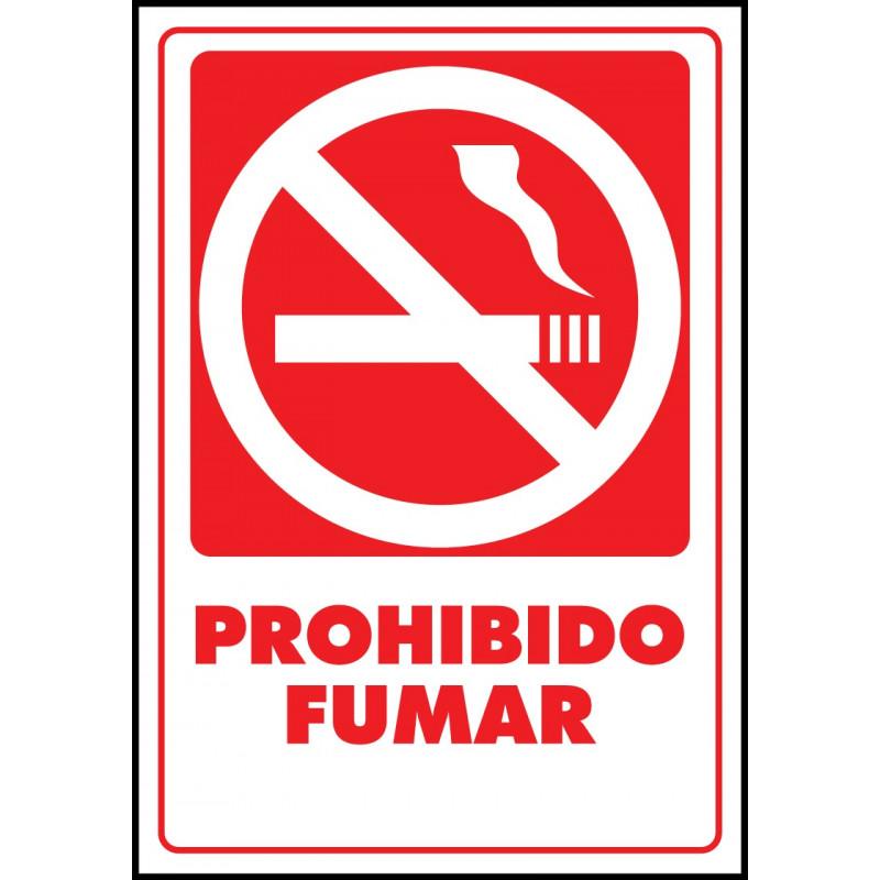 Cartel Prohibido Fumar - Rojo