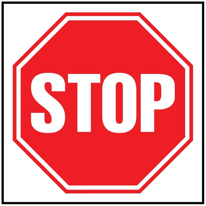 Cartel STOP