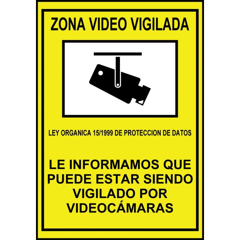 Cartel Zona Vídeo Vigilada