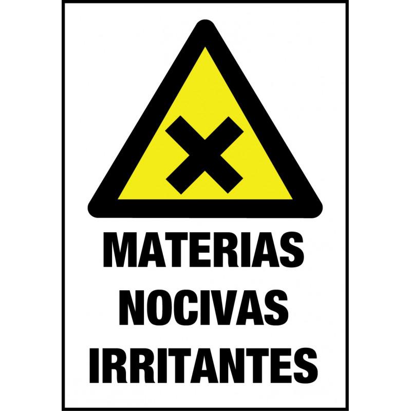 Cartel Materias Nocivas Irritantes