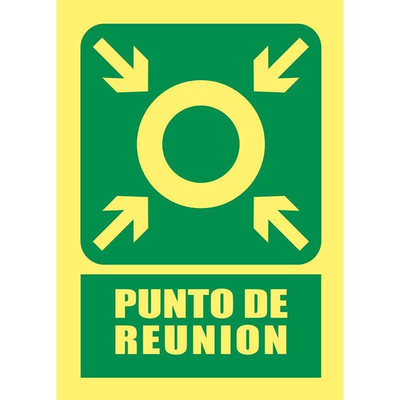 Cartel Fotoluminiscente Punto de Reunión