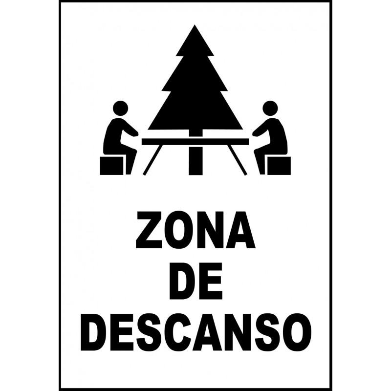 Cartel Zona de Descanso