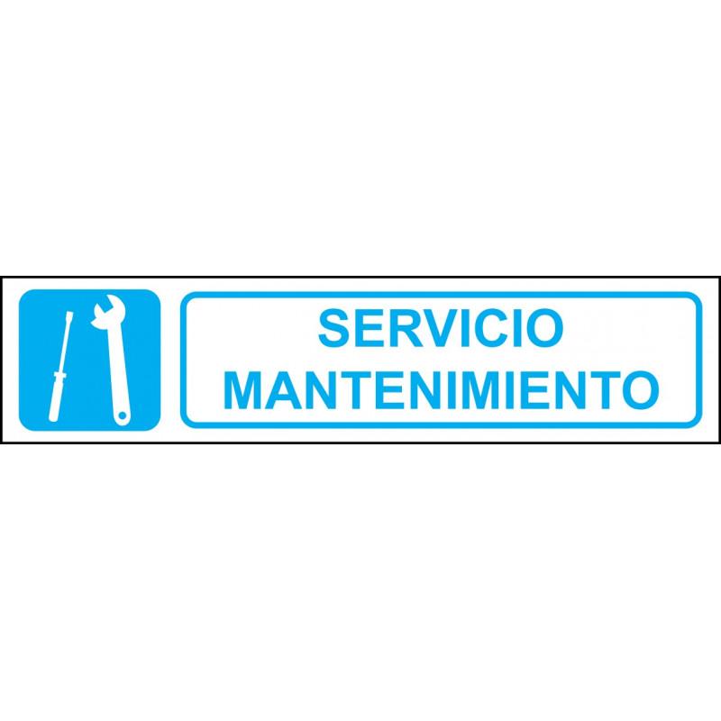 Cartel Horizontal Servicio Mantenimiento