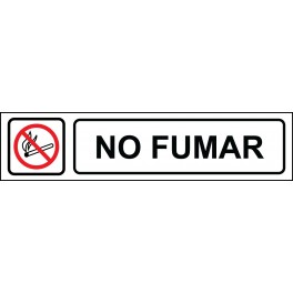 Cartel Horizontal No Fumar