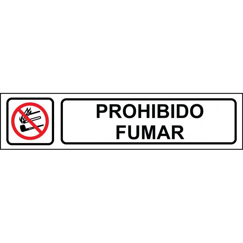 Cartel Horizontal Prohibido Fumar