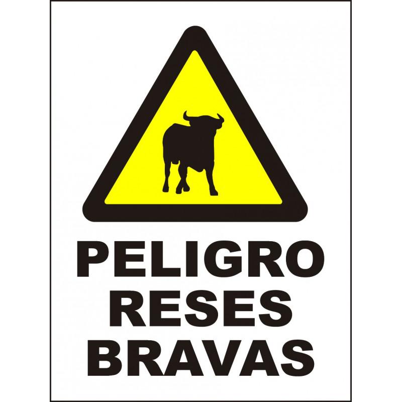 Cartel Peligro Reses Bravas