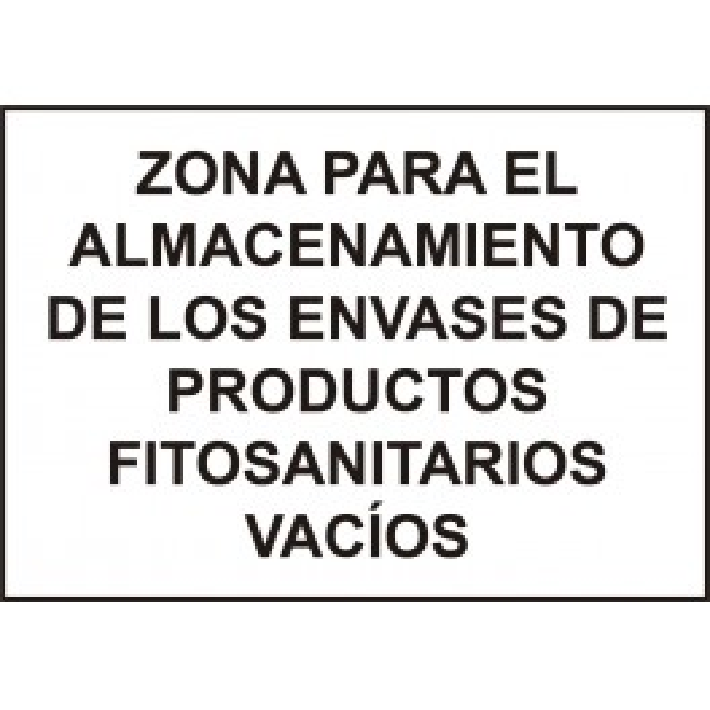 Cartel Zona Almacenamiento Fitosanitarios