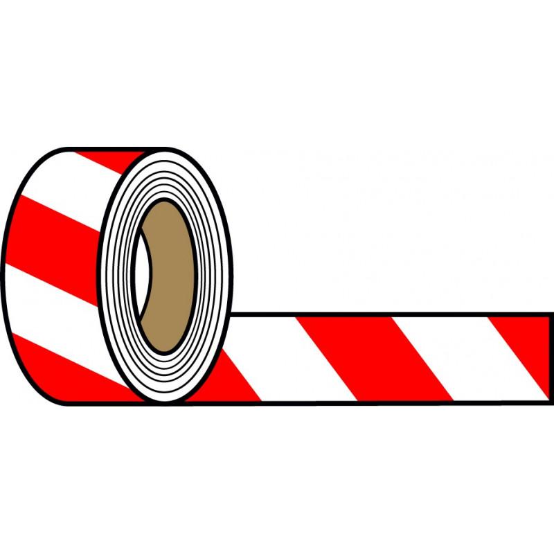 Rollo Blanco-Rojo 250m.