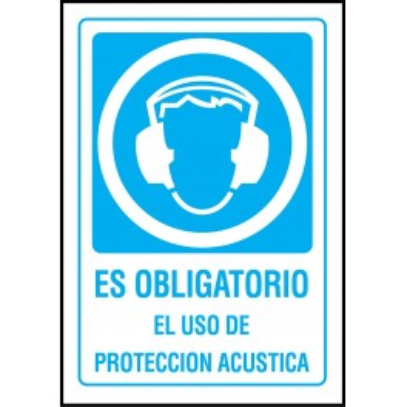 Cartel Es Obligatorio el Uso de Protección Acústica