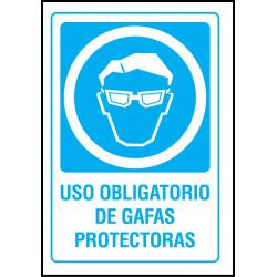 Cartel Uso Obligatorio de Gafas Protectoras