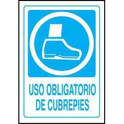 Cartel Uso Obligatorio de Cubrepies