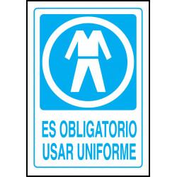 Cartel Es Obligatorio Usar Uniforme