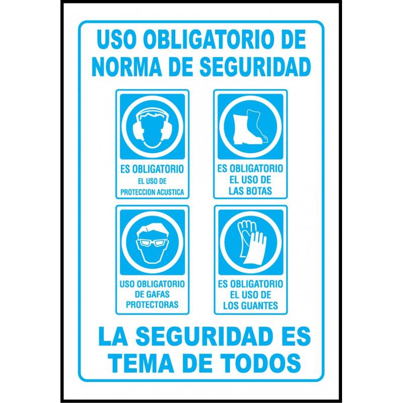 Cartel Uso Obligatorio de Normas de Seguridad - Acústica 43ebaa3bd20