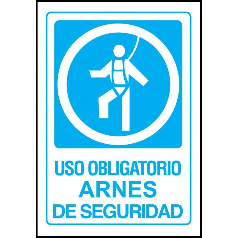 Cartel Uso Obligatorio de Arnés de Seguridad - Operario