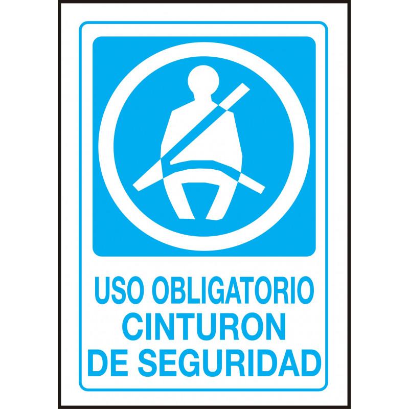 Cartel Uso Obligatorio Cinturón de Seguridad - Vehículo - Brero Shop 6369e7da678