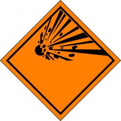 Peligro de Clase 1 - Señal Materias y Objetos Explosivos - Simple