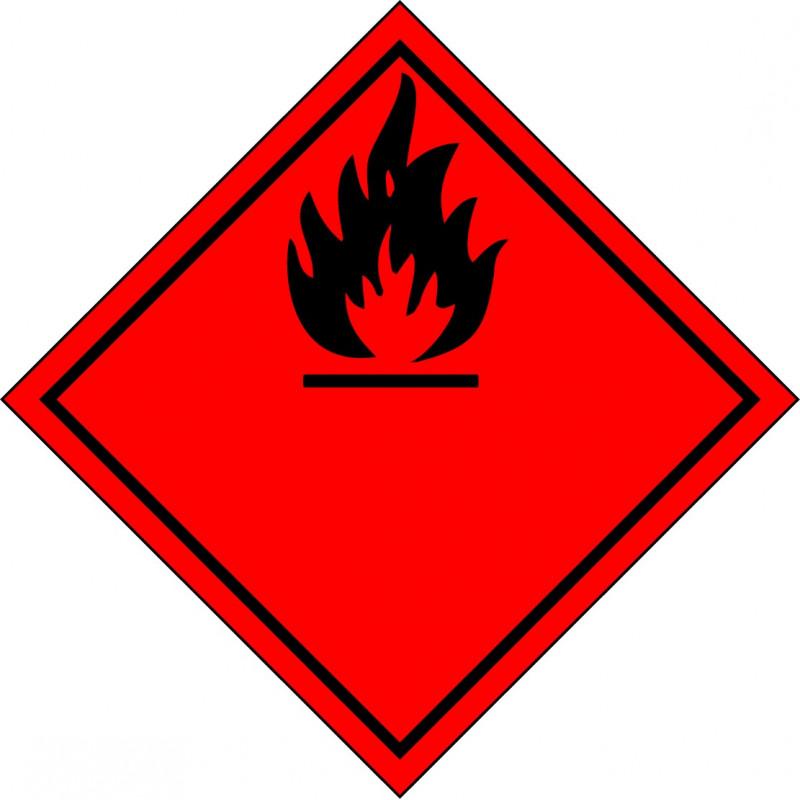 Peligro de Clase 2.1 y 3 - Señal Gases y Líquidos Inflamables