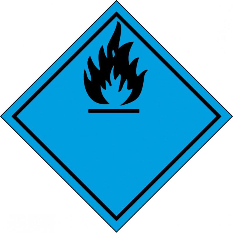 Peligro de Clase 4.3 - Señal Materias que, al contacto con el agua, desprenden gases inflamables
