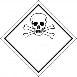Peligro de Clase 2.3 y 6.1 - Señal Gases y Materias Tóxicas