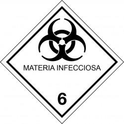 Peligro de Clase 6.2 - Señal Materias Infecciosas