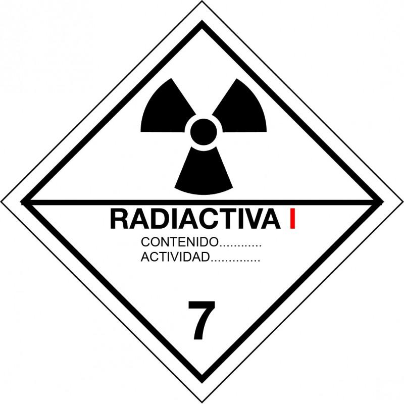 Peligro de Clase 7A - Señal Materias radiactivas