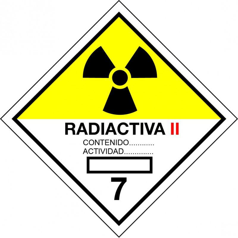 Peligro de Clase 7B - Señal Materias radiactivas