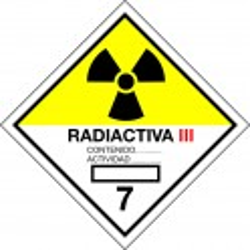 Peligro de Clase 7C - Señal Materias radiactivas