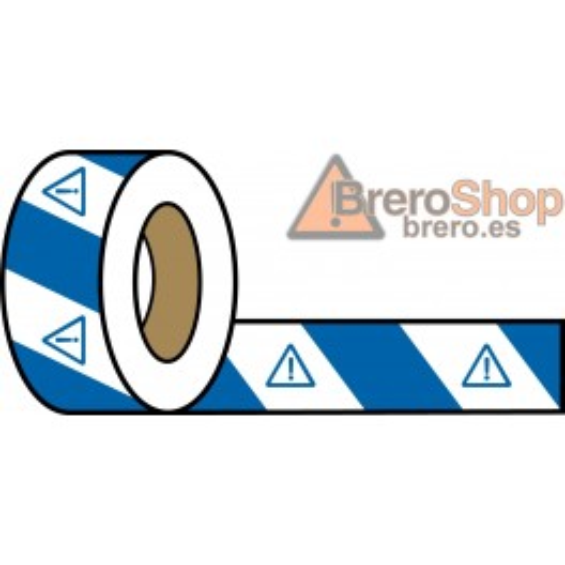 Rollo Blanco-Azul 200m - Peligro Indefinido