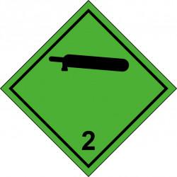 Peligro de Clase 2.2 - Señal Gases No Inflamables, No Tóxicos - Negro