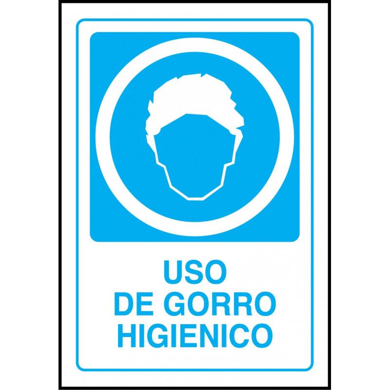 Cartel Uso de Gorro Higiénico - Brero Shop e9857a2023f
